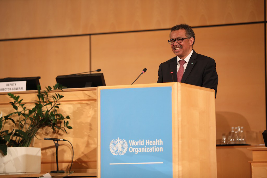 Dr. Tedros addresses 72 WHA