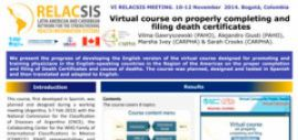 Poster: Virtual course on properly completing and filing death certificates