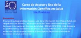 Curso Virtual de autoaprendizaje: Acceso y Uso de la Información Científica en Salud