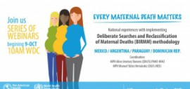 BIRMM - Webinar #1 - A methodology to improve the recording of deaths related to pregnancy, childbirth, and puerperium