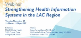Webinar: Strengthening Health Information Systems in the LAC Region